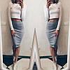 Костюм юбка-карандаш+укороченная кофточка, фото 2
