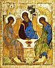 Икона Святая Троица (автор Андрей Рублев) 51*40 см
