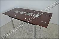 Раскладной стол Maxi Dt tr 1100/800 коричневый с рисунком