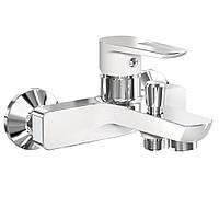 Смеситель для ванны Imprese BRECLAV хром/белый