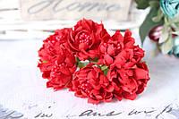Хризантема пышная 60 шт/уп. диаметр около 3,5 см диаметр красного цвета оптом