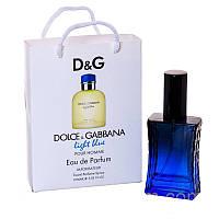 Мини парфюм Dolce & Gabbana Light Blue pour Homme в подарочной упаковке 50 ml