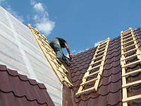Укладка крыши металлочерепицей