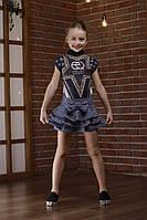 Нестандартная детская юбка-шорты с тремя рядами кокетливых рюшей