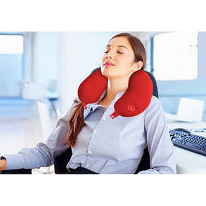 Антистрессовая подушка-подголовник массажная Neck Massage Cushion, фото 2