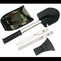 Саперный набор 4 предмета : лопатка, топор, нож, пила (в чехле)