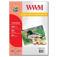 Фотобумага WWM глянцевая 225г/м кв , A4 , 20л (G225.20/C)