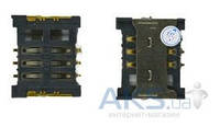 (Коннектор) Aksline Разъем SIM-карты Samsung C5212 / C6112 / B5702 / S5350 / S5550 / E2550
