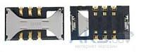 (Коннектор) Aksline Разъем SIM-карты Samsung S5830 / S5670 / S7350 / S8300 / B5722 / i900 Original