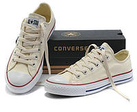 """Кеды Converse All Star Низкие """"Бежевые"""" (Копия ААА+), фото 1"""