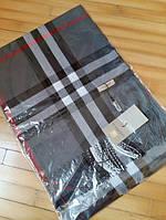 Шарф Барберри серый с бахромой, фото 1