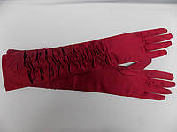 Перчатки атласные длинные разные цвета
