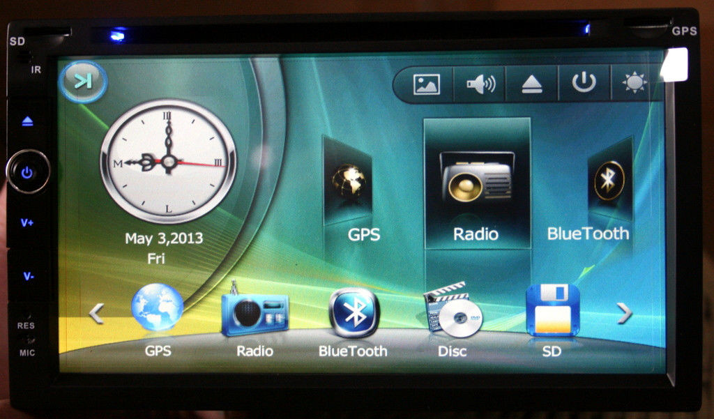 Автомагнитола 2Din с GPS DVD Bluetooth 7 дюймов