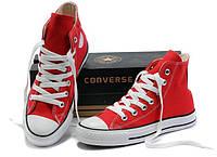 """Кеды Converse All Star Высокие """"Красные"""" (Копия ААА+), фото 1"""