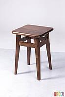 Табурет Микс Мебель на прямых ножках темный орех