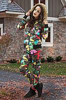 Зимний костюм цвета цветного хаки