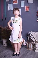 "Платье детское вышитое без рукавов ""Квітковий розмай"" ( арт.  PA6-140.0.0 ), фото 1"