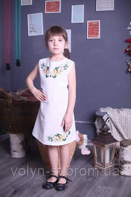 Платье для девочек с вышивкой,Квітковий розмай