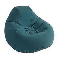 Велюр кресло удобное, надувное, зеленое