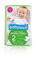 Подгузники Babylove 2 Mini (3-6кг) 42шт (Германия)
