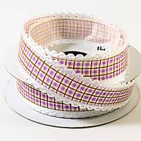 Лента декоративная текстильная 20003 (ширина 2,5 см,10 ярд)