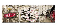 Часы настенные на холсте Старый Лондон 30*30см