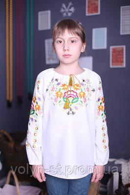 Блуза для девочек с вышивкой Петриковская  роспись