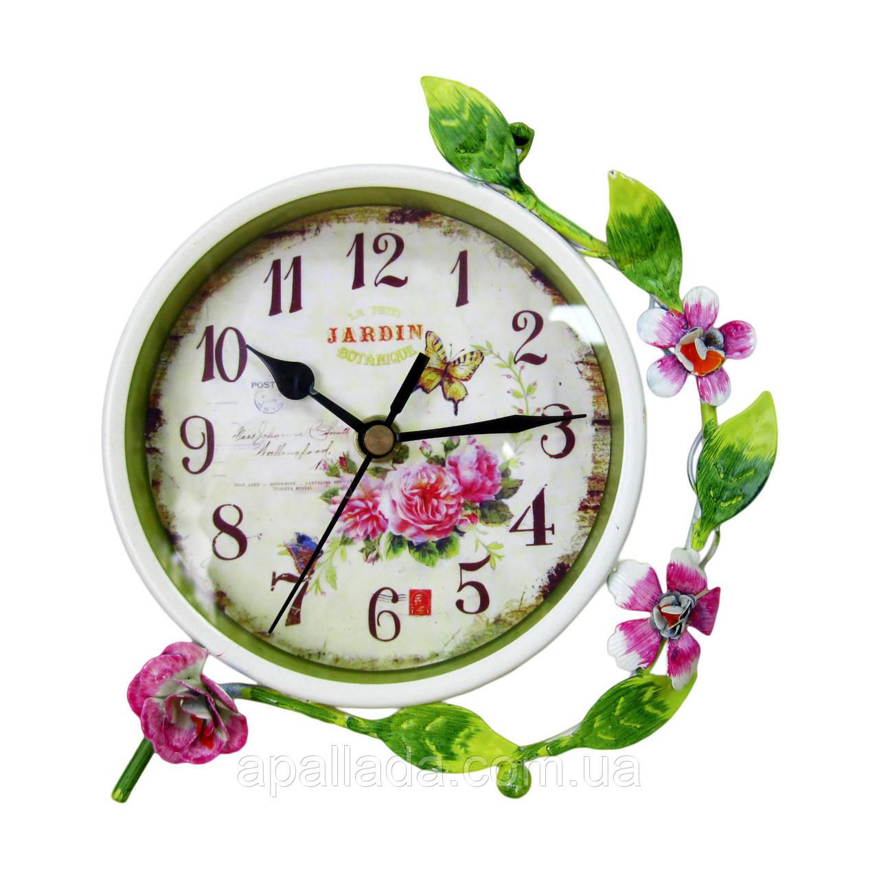 Годинник з квітами 16 см.