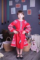 """Платье детское вышитое с длинным рукавом """"Фея"""" ( арт. PA4-303 )"""