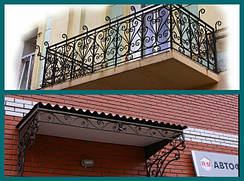 Кованые балконные ограждения и козырьки