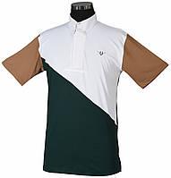 Мужская рубашка с коротким рукавом для конного спорта