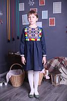 """Платье детское вышитое с длинным рукавом """"Веселка"""" ( арт. PA3-122.0.6 ), фото 1"""