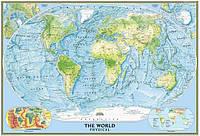 Физическая карта мира 96х141 см