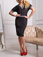 """Женское платье до колена """"Триумф блек"""", до 50 размера"""