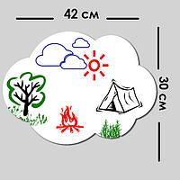 Магнитно маркерная доска для детей, купить детскую маркерную доску, недорого 30 х 42 см, фото 1