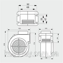 """Вентилятор принудительной подачи воздуха для твердотопливных котлов WPA 07 """"M+M"""", фото 3"""