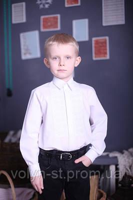 "Вышитая рубашка для мальчика ""Срібло"" ( арт. CX1-408.0.11 )"