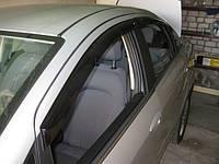 Дефлекторы окон (ветровики) на Фиат Линеа с 2007> (клеющие).