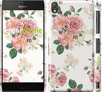 "Чехол на Sony Xperia Z3 D6603 цветочные обои м1 ""2293c-58"""