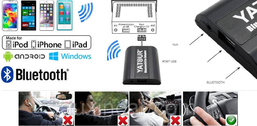 Емулятор сд-чейнджера Yatour YT-BTK MAZ1 Bluetooth A2DP/Мікрофон для Mazda