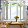 """Трехстворчатое окно с двумя открывающимися створками КВЕ Eco Optima 1800x1400 """"Окна Маркет"""""""