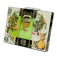 Набор вафельных полотенец Dia Bella Olive 3*50*70см, 3397_dia_bella_3ka_olive
