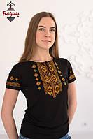 Жіноча вишита футболка Гуцульська золота