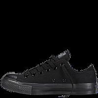 Кеды Converse All Star черные низкие монохром 35-40рр Реплика, фото 1