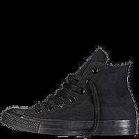 Кеды Converse All Star черные высокие монохром 35-40рр Реплика, фото 1