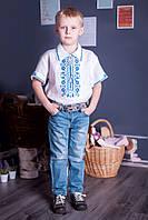 """Вышиванка для мальчика """"Казкова"""" с коротким рукавом ( арт. BX2-418.6.11 ), фото 1"""