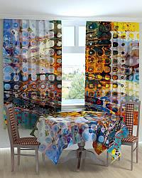 Фотошторы на кухню абстракция