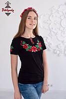 Жіноча вишита футболка Мак-калина