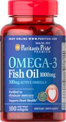 Omega-3 Puritans Pride 1000mg 100 softgels