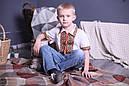"""Вышиванка для мальчика """"Украинский"""" с коротким рукавом лён ( арт. BX3-401.6.11 ), фото 3"""